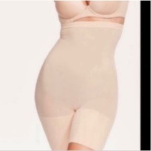 NIB SPANX Higher Power Short Nude Small